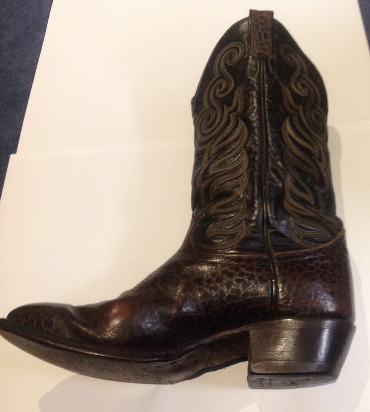 Fantastic Vintage Tony Lama cowboy boots in two tone leather. by ComicKamikaze on Etsy