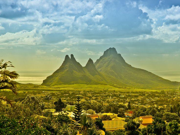 Panoramica sulla rigogliosa natura di Mauritius