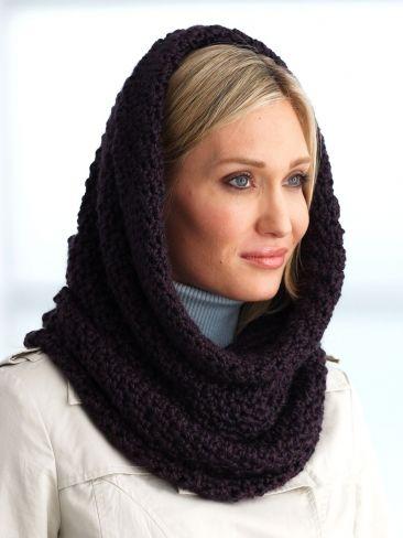 Hooded Cowl | Yarn | Free Knitting Patterns | Crochet Patterns | Yarnspirations
