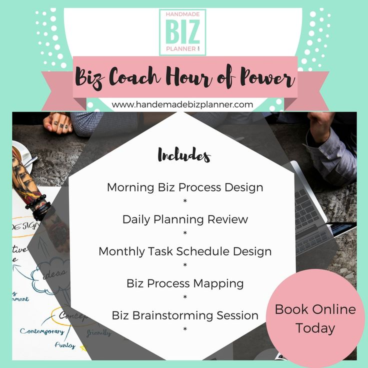 A Handmade Business Coaching Service focused on kickstarting your daily tasks, your business processes and your creative business ideas.