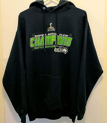 Seattle Seahawks Superbowl 48 Champions, Hoodie NWOT Men's L by Port and Company #seahawks  #mensfashion