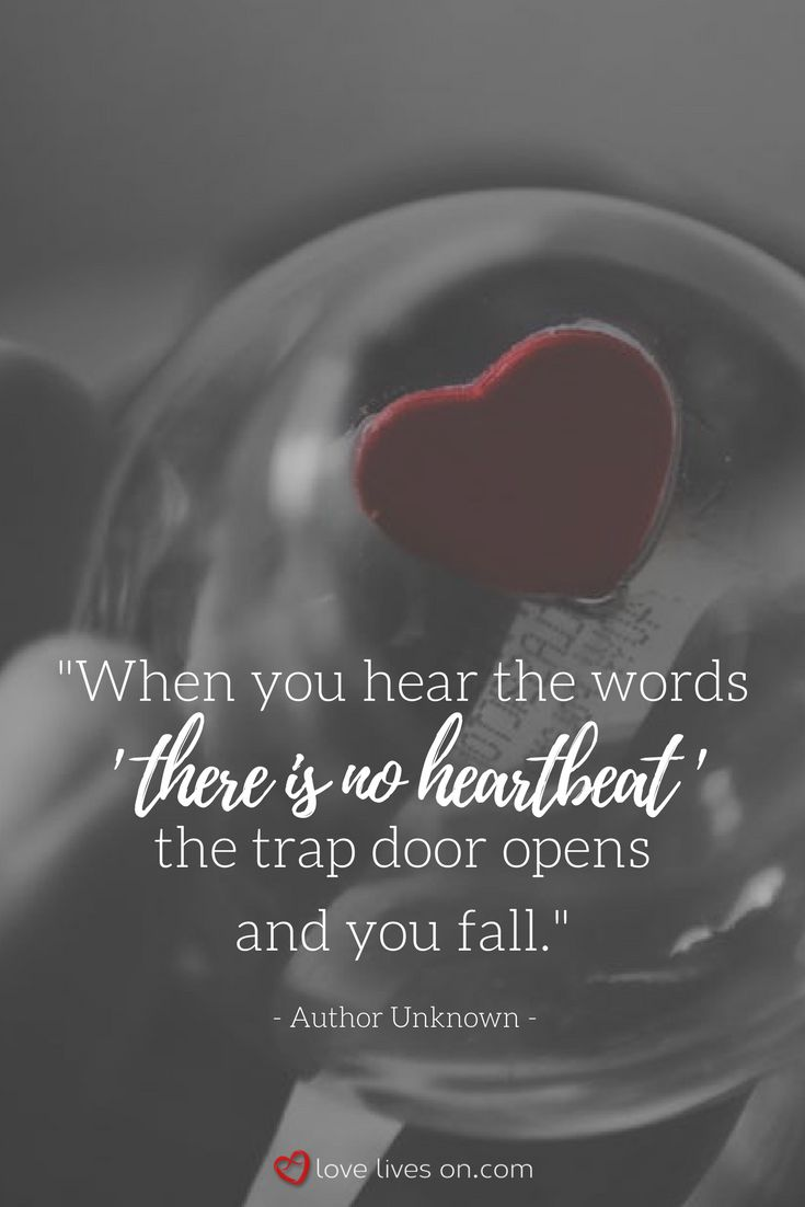 """This miscarriage quote captures the immense pain that comes with hearing the words """"there is no heartbeat""""..."""