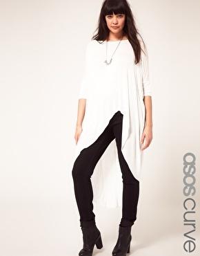 ASOS CURVE Jersey Top With Dip Back: Curves Outfits, Curves Jersey, Asos Curves, Clothing, Size Asos, Curvac Fashion, Jersey Tops, Curvy Fashion, Curves Tøj