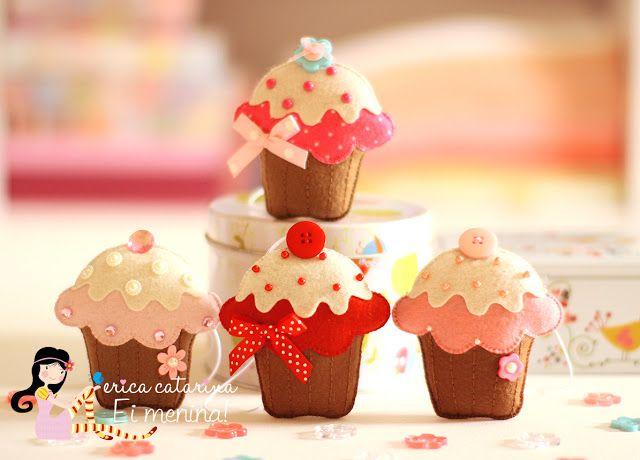 Cucito Creativo: fare cupcake in pannolenci - Tutorial e Cartamodello