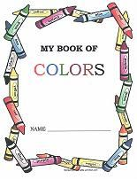 Free printable coloring book for learning colors. One page for each color. Great for review and reinforcement.
