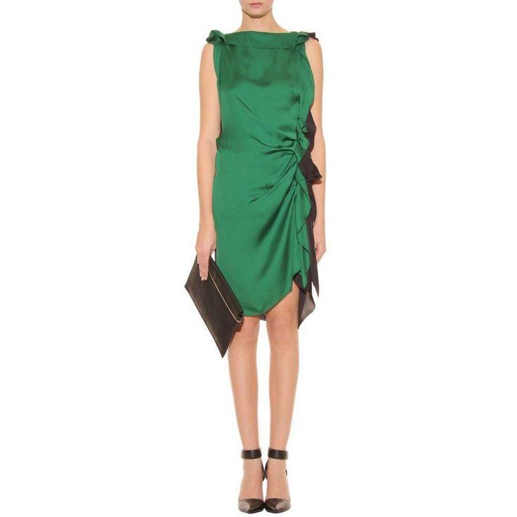 Risultati immagini per abito raso verde lanvin
