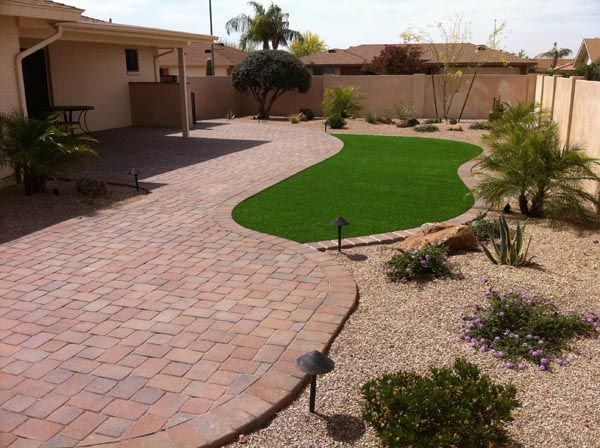 Professional landscape installations gilbert by summit for Professional landscaping ideas
