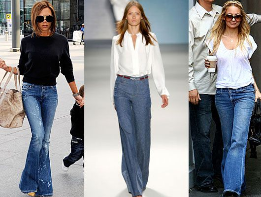 ¡Los jeans acampanados están de vuelta!