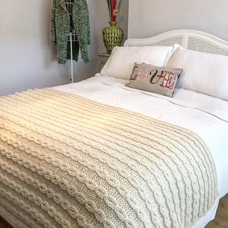 The one of my blankets have found a new home. Two more left : one natural white colour , other one - natural grey .  Both are 100% Eco , hand knitted from chunky wool with love. Find description in my Etsi shop listings.