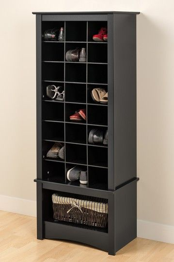Tall Shoe Cubbie Cabinet - Black I need this