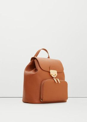 Shop Now - >  https://api.shopstyle.com/action/apiVisitRetailer?id=544429545&pid=uid6996-25233114-59 MANGO OUTLET Front pocket backpack  ...