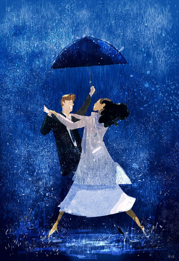 Right here and now.   #pascalcampionart  _What are you doing? _I always wanted to do this ... dancing in the rain with you.  _You are crazy!!  _Do you mind? _NOT AT ALL!