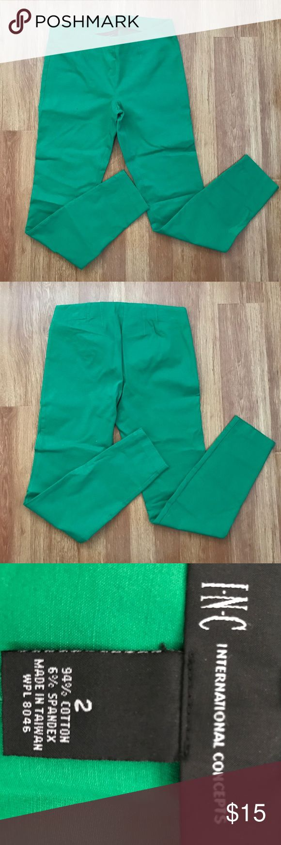 INC Pants INC green pants. Good condition. Inseam 27. INC International Concepts Pants Ankle & Cropped