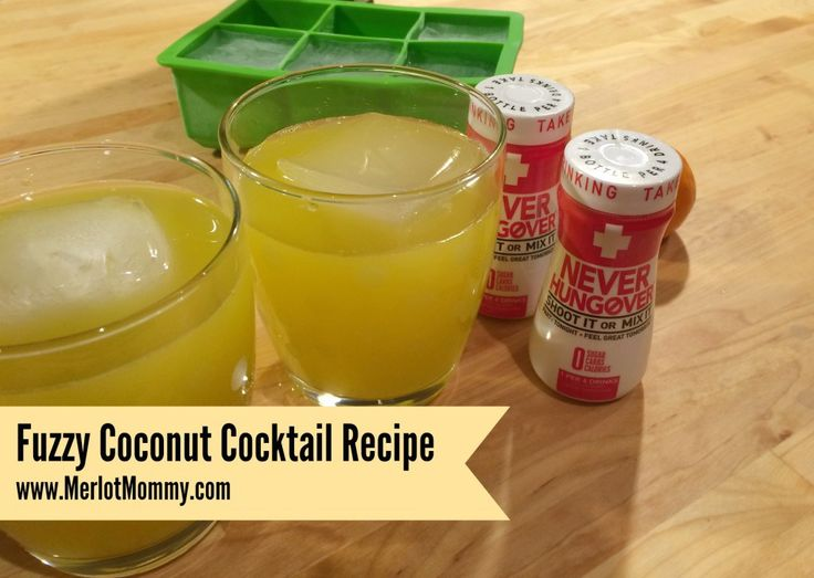 Fuzzy Coconut Cocktail with Never Hungover