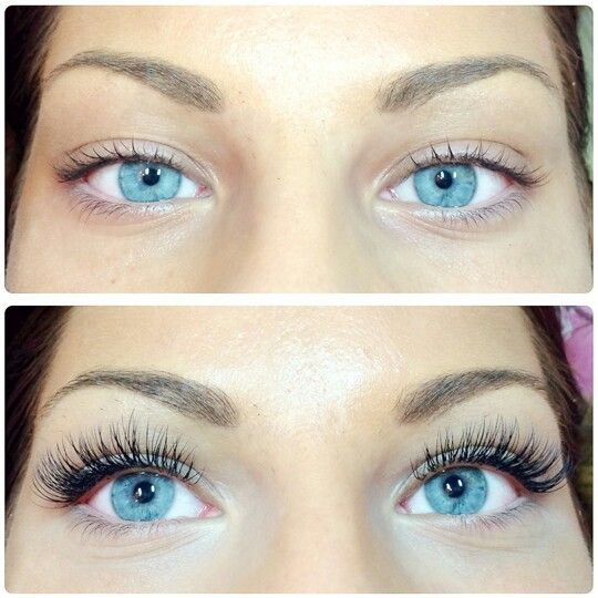 Before and after... Permanent (until natural lashes fall out when their natural cycle ends)