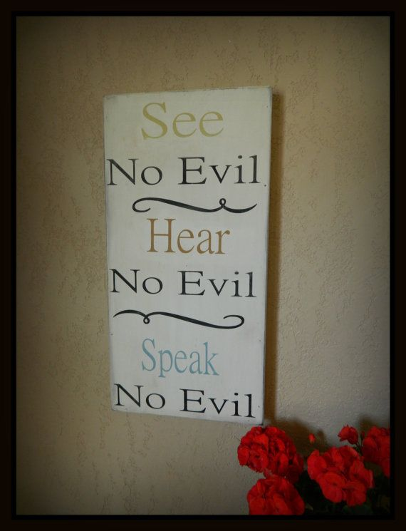 See No Evil Hear No Evil Speak No Evil by CountryFolksCreation, $48.00