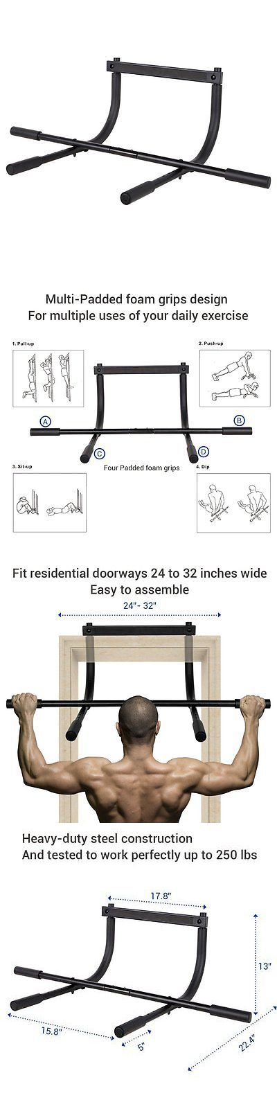 Pull Up Bars 179816: Fitleader Pull Up Bar Body Workout Multi-Grip Exercise Fitness Heavy Duty Doorwa -> BUY IT NOW ONLY: $46.5 on eBay!