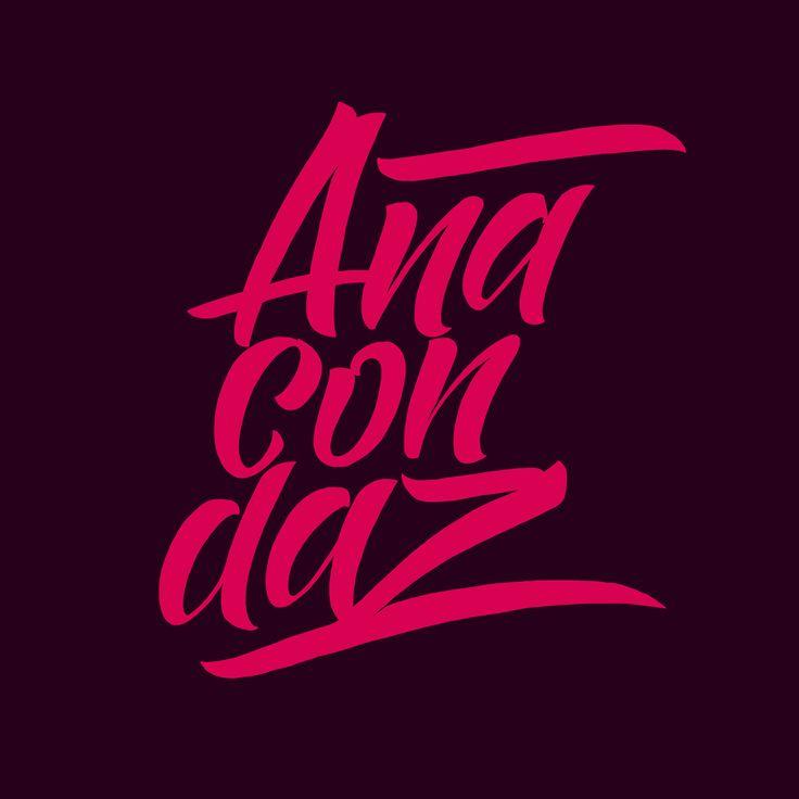 Anacondaz fan lettering