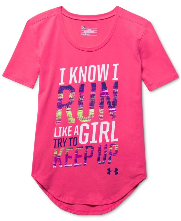 """Under Armour Girls' """"Girls' Run"""" Short Sleeve T-Shirt"""