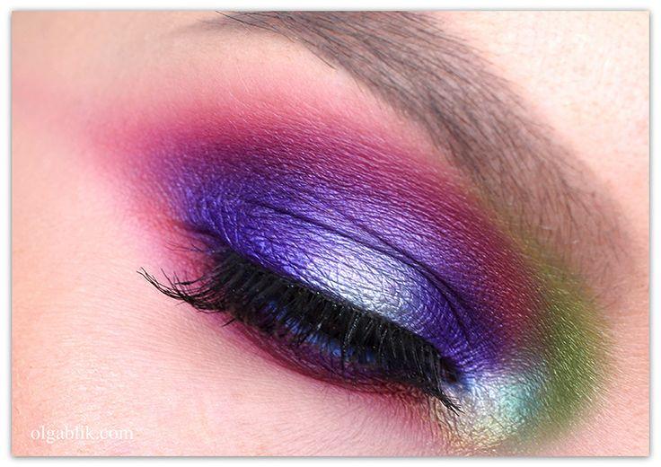 Olga Blik   Яркий макияж: игра с цветом   https://olgablik.com