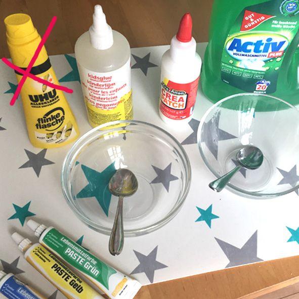 Nach vielen Versuchen haben meine Kinder gestern das perfekte Rezept gefunden, um eigenen Schleimi / Schleim / Slimy herzustellen! Super einfach & günstig!