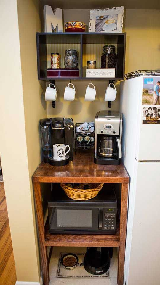 Best 25 home coffee stations ideas on pinterest home for Pictures of home coffee bars