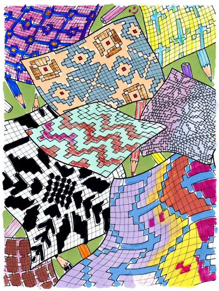 Juliana Horner's drawing for A COLORING BOOK FOR KNITTERS.