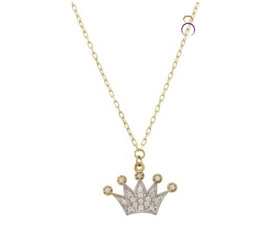 Make her feel like a Queen!! Bicolour crown 14carats only 144€  Buy it here: http://www.a-kosmima.gr/gifts/dwra-gia_ekeini/vrahioli-k14-781-7822013-01-08-13-55-59_-787-detail.html