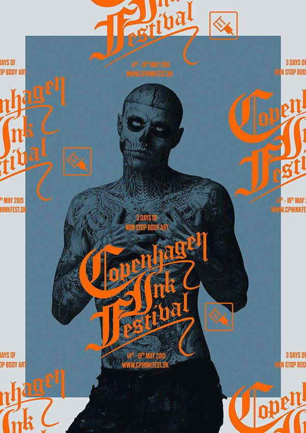 Behance :: Copenhagen Ink Festival in Print