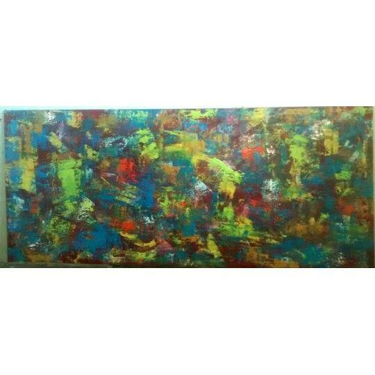 Cuadro abstracto al óleo.