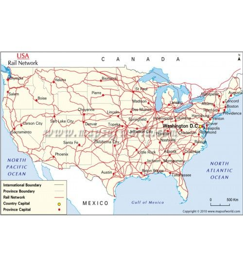 buy interactive rail network map of us maps of usa