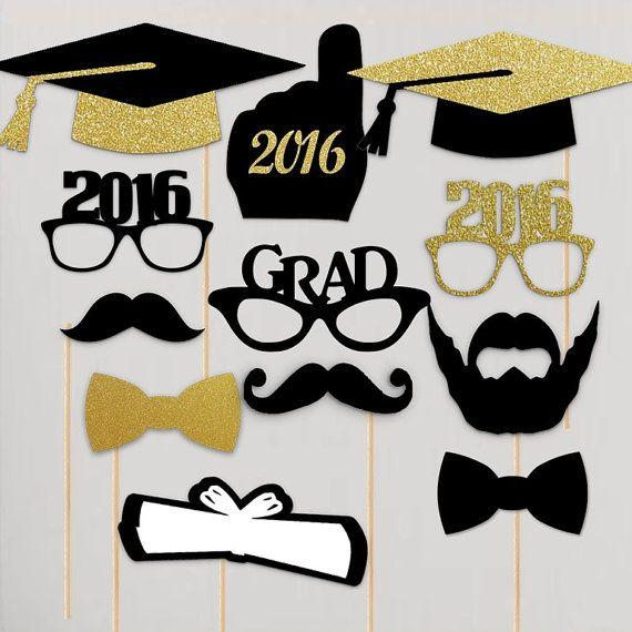 2016 gafas de graduación Photo Booth Props por techstudent en Etsy