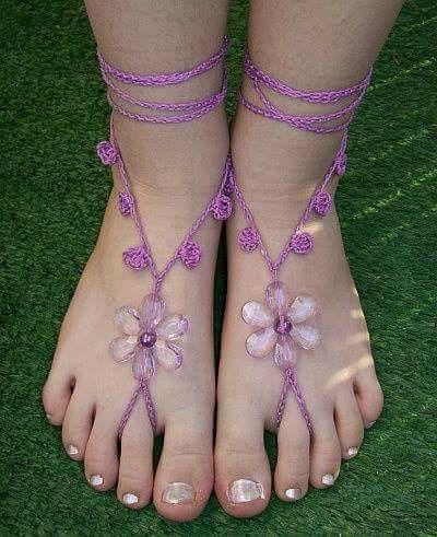 Zandalias descalzas