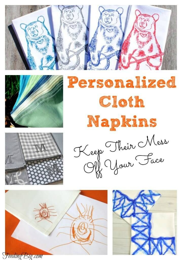 Personalized Cloth Napkins - Keep their mess off your face