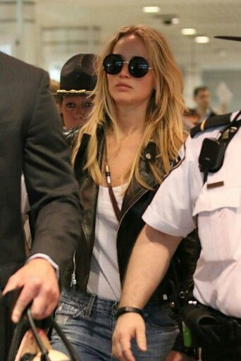 Jennifer Lawrence arriving to Montreal for X-Men Apocalypse - (May 18)