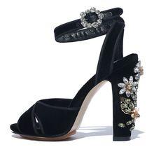 Handgefertigte Mode Damen High Heels Wildleder Gladiator Sandalen Strass Hochzeit Kleid Schuh Frauen Pumpen Alias Mujer Schuhe Frau //Price: $US $72.10 & FREE Shipping //     #abendkleider