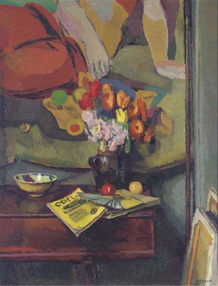 STILL LIFE WITH OPEL by Duncan Grant