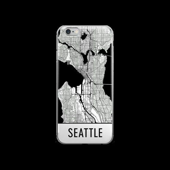 Seattle iPhone Case, Seattle Phone Case, iPhone Seattle , Seattle WA Phone Case, Seattle iPhone 5 Case, Seattle iPhone 6, Art, Gift