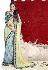 http://www.desibutik.com/saree/yellow--off-white-chiffon-saree-with-multi-color-dhupion-blouse/pv726-itemcode/
