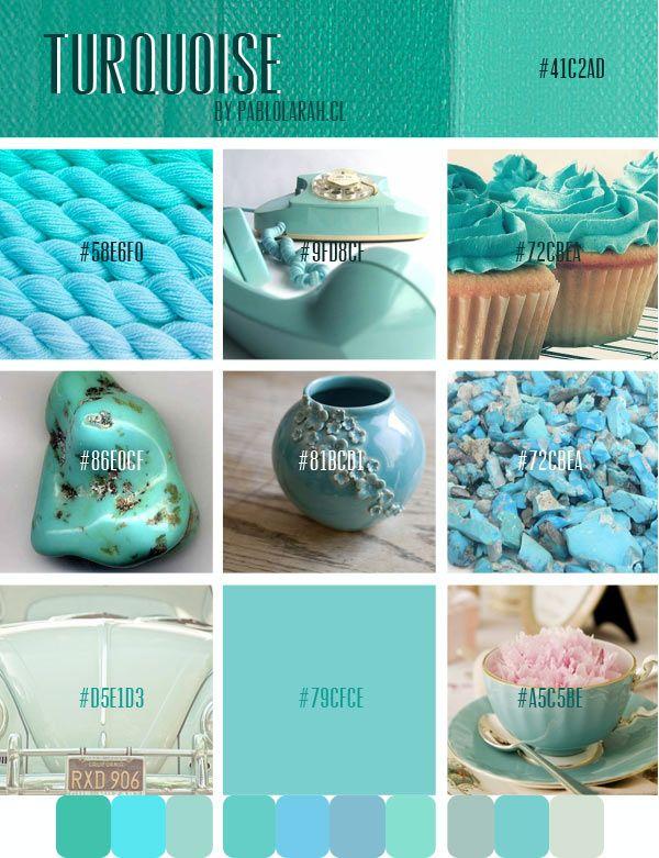 Turquoise color | Color Palette #4 Turquoise,pablolarah,Pablo Lara H Blog