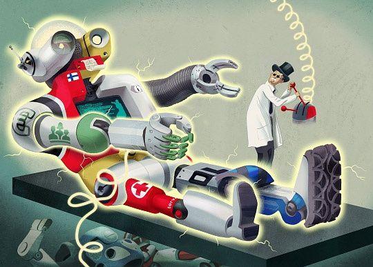 Illustration by Jussi Kaakinen for TEK magazine, 2013