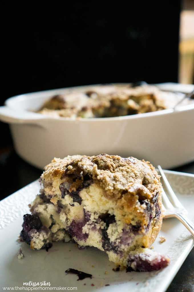 Amazing Blueberry Coffee Cake is delicate and sweet on the inside with a buttery crisp crumble topping. A family dessert recipe passed down through generations.