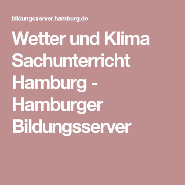 Wetter und Klima Sachunterricht Hamburg - Hamburger Bildungsserver