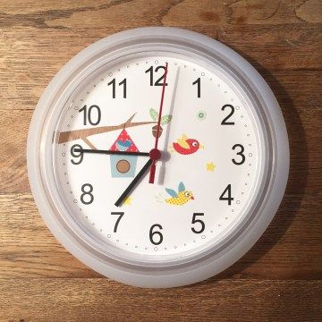 Fancy DIY Wanduhr f rs Kinderzimmer