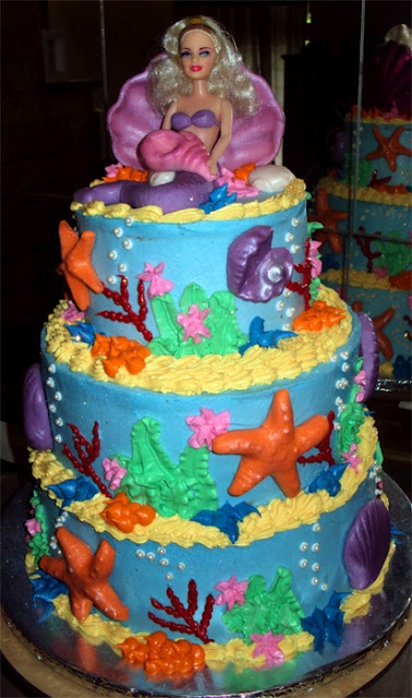 Mermaid cake- Delana's Cakes
