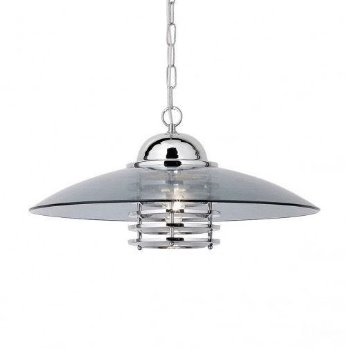 This space age light fitting will certainly catch the eye. Perfect for an open plan kitchen dining area.