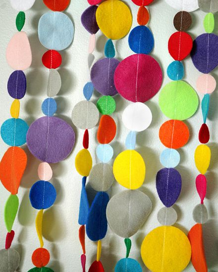For the crib/stroller? Felt Garland from Tina Magee Sews