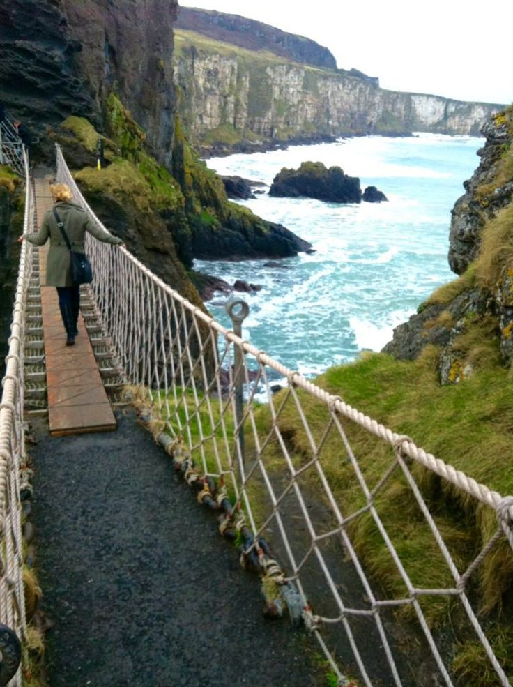 Carrick-a-Rede Rope Bridge, Northern Ireland - missed this on my trip it was not open yet. Want to go back and try it!!!