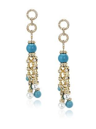 72% OFF CZ by Kenneth Jay Lane Turquoise Fringe Earrings