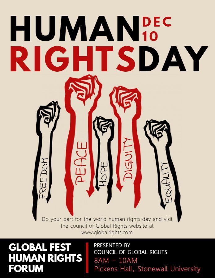 Human Rights Vintage Propaganda Flyer Poster Template Human Rights Day Human Rights Human Rights Quotes